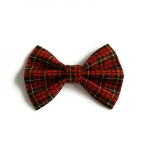 haarstrik handgemaakt van Schotse Ruitstof van de Clan Macqueen maat small