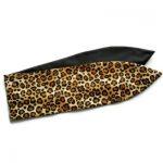 handgemaakte pin up retro geinspireerde haarband van luipaardprint en effen zwart
